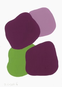 Monika Gojer, water violet green bordeaux, 2016