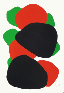Monika Gojer, water green red, 2015, gouache/paper, 21 x 14,8 cm