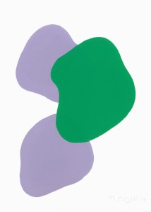 Monika Gojer, water lightviolet green I, 2017