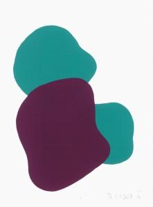 Monika Gojer, water turquoise, violet, 2016, gouache/paper, 21 x 14,8 cm