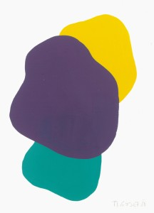Monika Gojer, water yellow turquoise, violet, 2016, gouache/paper, 21 x 14,8 cm