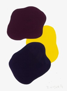 Monika Gojer, water yellow bordeaux violet, 2017, gouache/paper, 21 x 14,8 cm