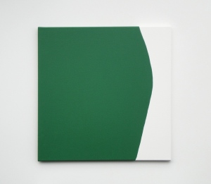 Monika Gojer, touching thought dark green,