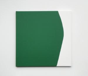 Monika Gojer, touching thought dark green,